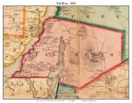 Fall River, Massachusetts 1858 Old Town Map Custom Print - Bristol Co.