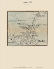 Assonet Village, Massachusetts 1858 Old Town Map Custom Print - Bristol Co.