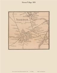 Norton Village, Massachusetts 1858 Old Town Map Custom Print - Bristol Co.