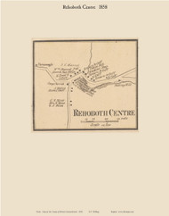 Rehoboth Center Village, Massachusetts 1858 Old Town Map Custom Print - Bristol Co.