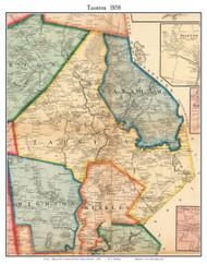 Taunton, Massachusetts 1858 Old Town Map Custom Print - Bristol Co.
