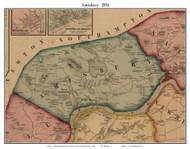 Amesbury, Massachusetts 1856 Old Town Map Custom Print - Essex Co.