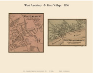 West Amesbury and River Villages, Massachusetts 1856 Old Town Map Custom Print - Essex Co.