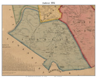 Andover, Massachusetts 1856 Old Town Map Custom Print - Essex Co.