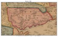 Beverly, Massachusetts 1856 Old Town Map Custom Print - Essex Co.