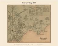 Beverly Village, Massachusetts 1856 Old Town Map Custom Print - Essex Co.