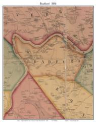 Bradford, Massachusetts 1856 Old Town Map Custom Print - Essex Co.
