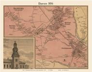 Danvers Village, Massachusetts 1856 Old Town Map Custom Print - Essex Co.