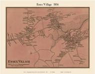 Essex Village, Massachusetts 1856 Old Town Map Custom Print - Essex Co.