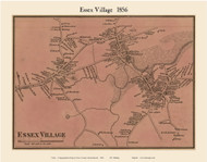 Essex Village, Massachusetts 1856 Old Town Map Custom Print - Essex Co.