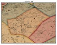 Georgetown, Massachusetts 1856 Old Town Map Custom Print - Essex Co.