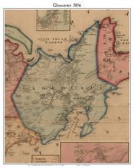 Gloucester, Massachusetts 1856 Old Town Map Custom Print - Essex Co.