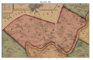 Haverhill, Massachusetts 1856 Old Town Map Custom Print - Essex Co.