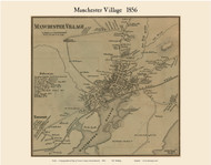 Manchester Villages, Massachusetts 1856 Old Town Map Custom Print - Essex Co.