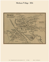 Methuen Village, Massachusetts 1856 Old Town Map Custom Print - Essex Co.
