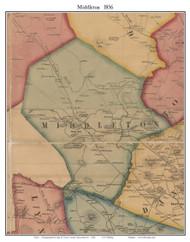 Middleton, Massachusetts 1856 Old Town Map Custom Print - Essex Co.