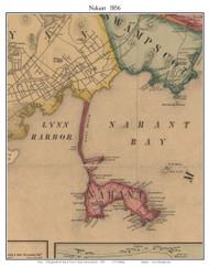 Nahant, Massachusetts 1856 Old Town Map Custom Print - Essex Co.