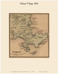 Nahant Village, Massachusetts 1856 Old Town Map Custom Print - Essex Co.