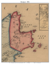Rockport, Massachusetts 1856 Old Town Map Custom Print - Essex Co.