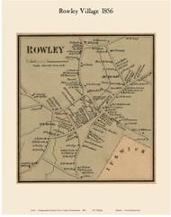 Rowley Village, Massachusetts 1856 Old Town Map Custom Print - Essex Co.