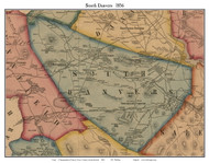 South Danvers, Massachusetts 1856 Old Town Map Custom Print - Essex Co.