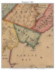 Swampscott, Massachusetts 1856 Old Town Map Custom Print - Essex Co.