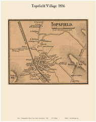 Topsfield Village, Massachusetts 1856 Old Town Map Custom Print - Essex Co.