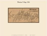 Wenham Village, Massachusetts 1856 Old Town Map Custom Print - Essex Co.