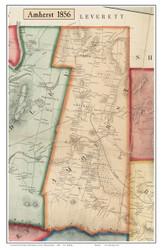 Amherst, Massachusetts 1856 Old Town Map Custom Print - Hampshire Co.