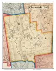 Chesterfield, Massachusetts 1856 Old Town Map Custom Print - Hampshire Co.