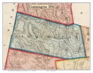 Cummington, Massachusetts 1856 Old Town Map Custom Print - Hampshire Co.
