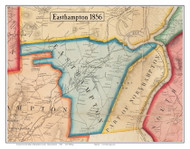 Easthampton, Massachusetts 1856 Old Town Map Custom Print - Hampshire Co.