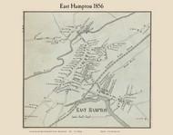 Easthampton Village, Massachusetts 1856 Old Town Map Custom Print - Hampshire Co.