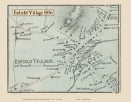 Enfield Village, Massachusetts 1856 Old Town Map Custom Print - Hampshire Co.
