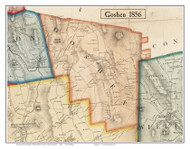 Goshen, Massachusetts 1856 Old Town Map Custom Print - Hampshire Co.