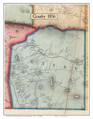 Granby, Massachusetts 1856 Old Town Map Custom Print - Hampshire Co.