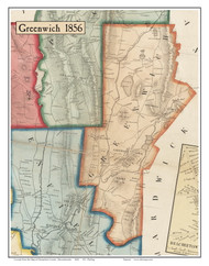 Greenwich, Massachusetts 1856 Old Town Map Custom Print - Hampshire Co.