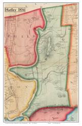 Hadley, Massachusetts 1856 Old Town Map Custom Print - Hampshire Co.