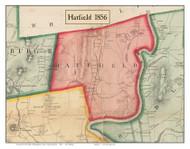 Hatfield, Massachusetts 1856 Old Town Map Custom Print - Hampshire Co.
