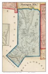 Huntington, Massachusetts 1856 Old Town Map Custom Print - Hampshire Co.