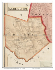Middlefield, Massachusetts 1856 Old Town Map Custom Print - Hampshire Co.