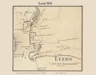 Leeds Village, Massachusetts 1856 Old Town Map Custom Print - Hampshire Co.