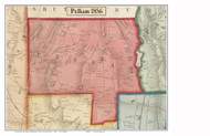 Pelham, Massachusetts 1856 Old Town Map Custom Print - Hampshire Co.