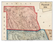 Plainfield, Massachusetts 1856 Old Town Map Custom Print - Hampshire Co.