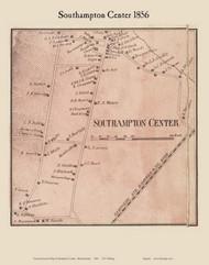 Southampton Center, Massachusetts 1856 Old Town Map Custom Print - Hampshire Co.