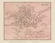 Ware Village, Massachusetts 1856 Old Town Map Custom Print - Hampshire Co.