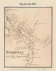 Haydenville, Massachusetts 1856 Old Town Map Custom Print - Hampshire Co.