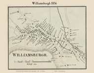 Williamsburgh Village, Massachusetts 1856 Old Town Map Custom Print - Hampshire Co.