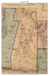 Amherst, Massachusetts 1860 Old Town Map Custom Print - Hampshire Co.