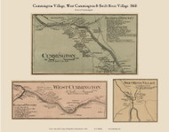 Cummington, West Cummington and Swift River Villages, Massachusetts 1860 Old Town Map Custom Print - Hampshire Co.